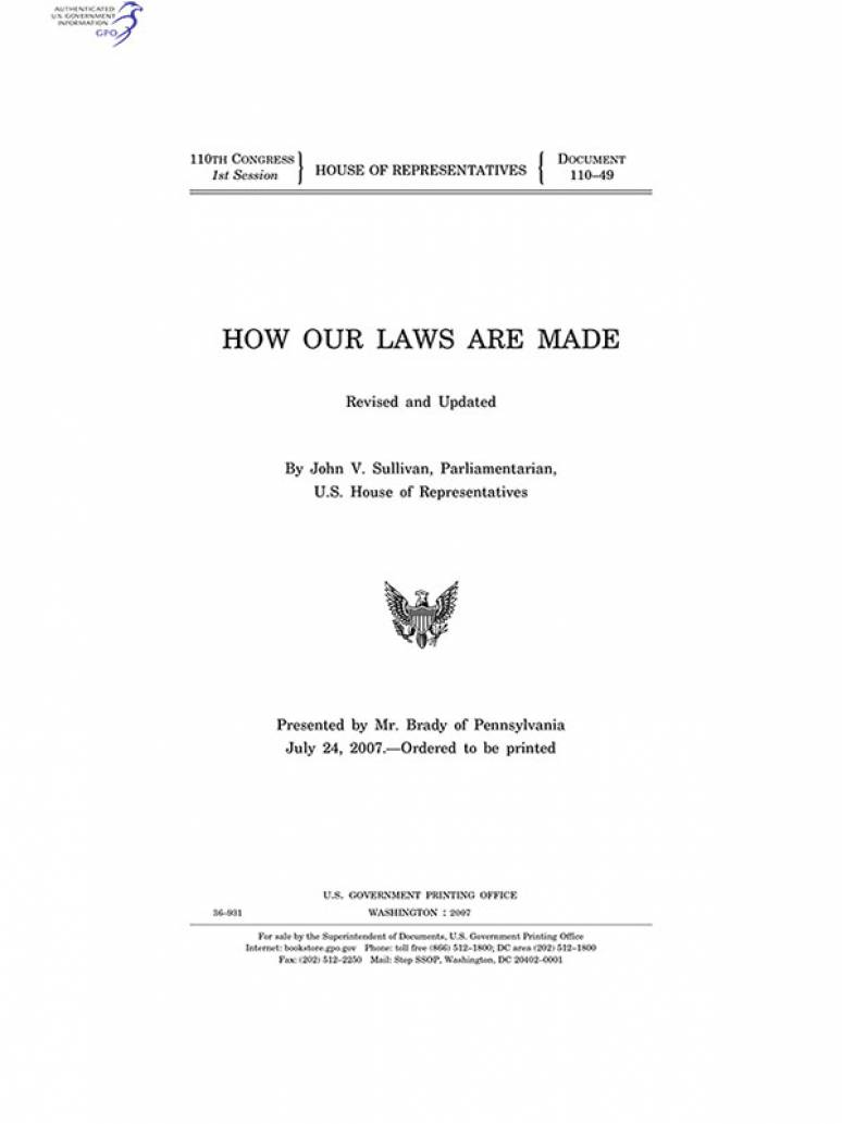 How Our Laws Are Made, 2007