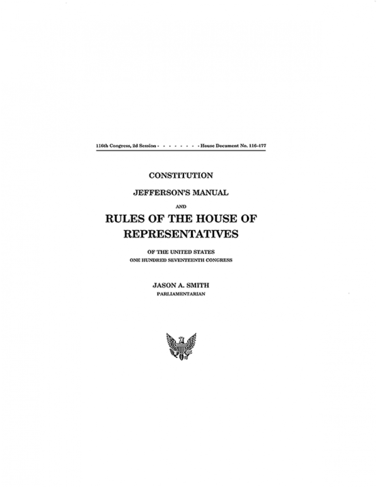 House Rules And Documents, 117th Congress