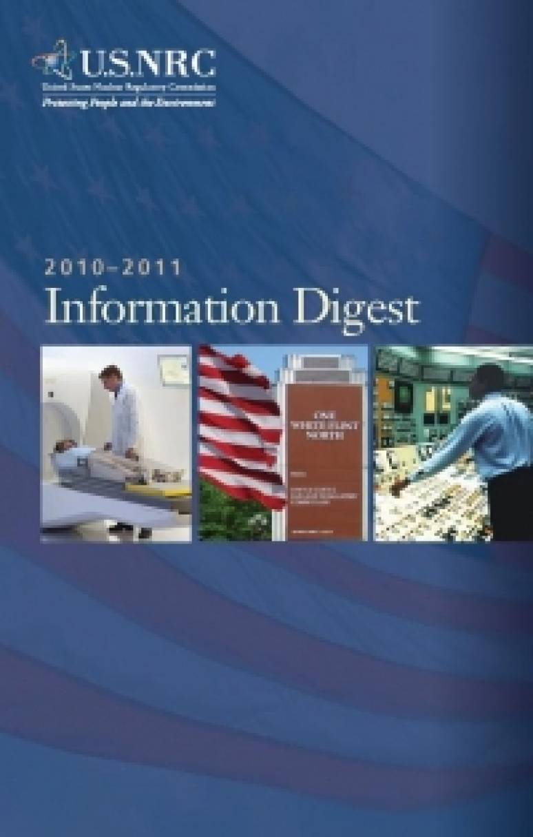 United States Nuclear Regulatory Commission Information Digest 2010-2011 (MOBI eBook)