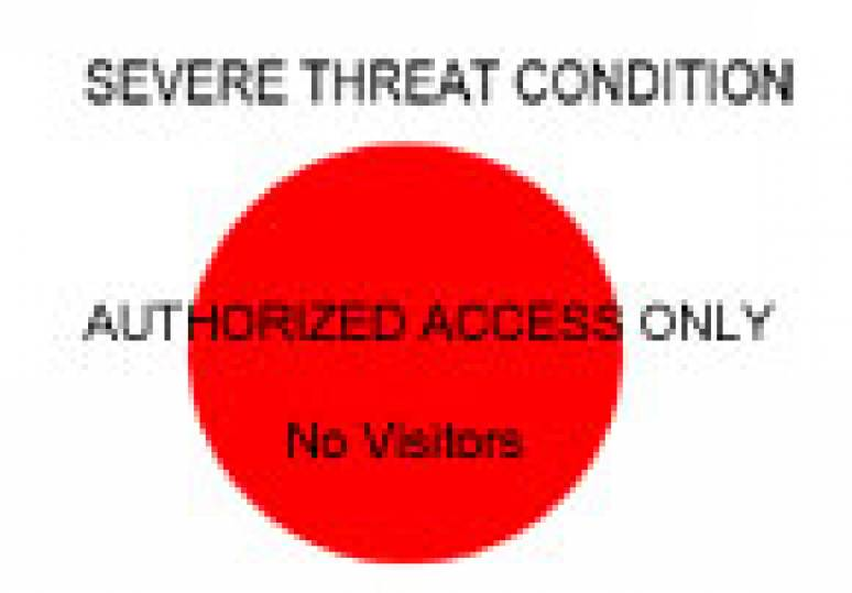 Homeland Security Threat Level Signs (Poster)