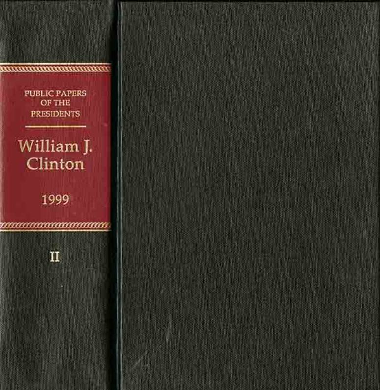 Public Papers of the Presidents of the United States, William J. Clinton, 1993, Bk. 1, January 20 to July 31, 1993