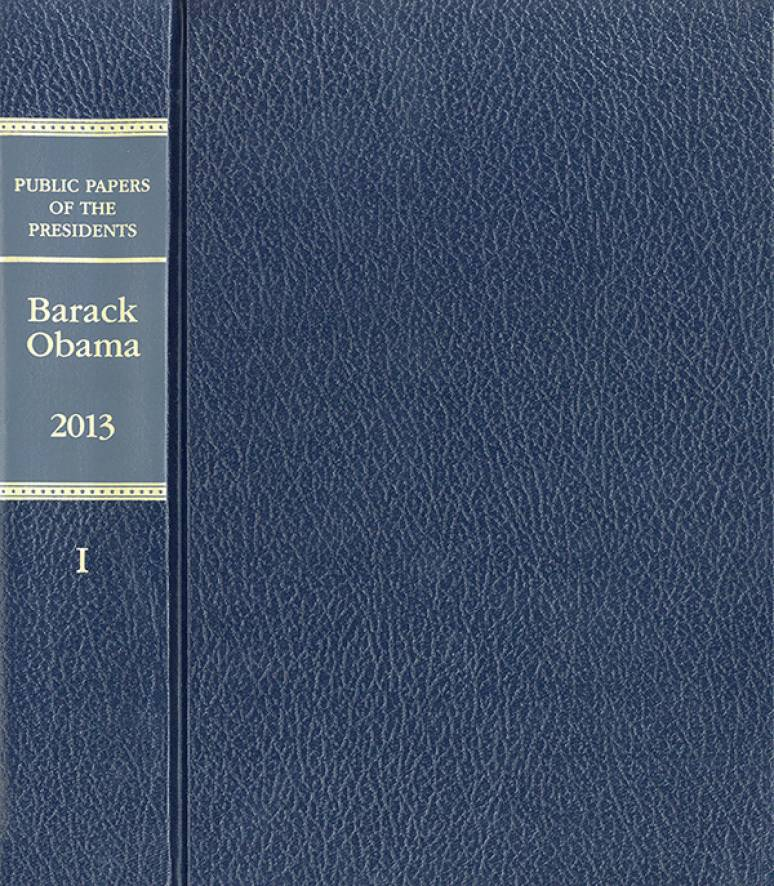 Public Papers of the Presidents: Barack Obama 2013, Book 1