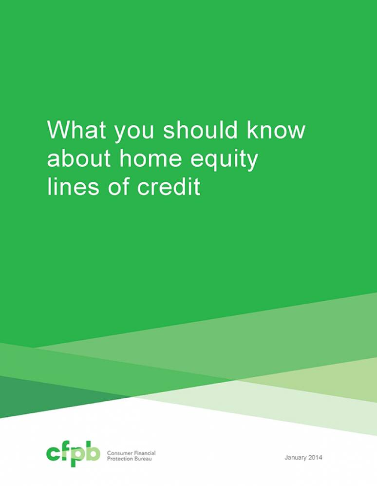 What You Should Know About Home Equity Lines of Credit (Package of 100) (Revised 2014)