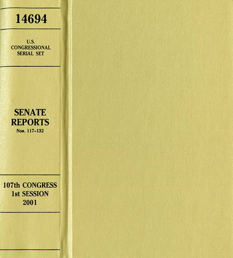 United States Congressional Serial Set, Serial No. 14694, Senate Reports Nos. 117-132