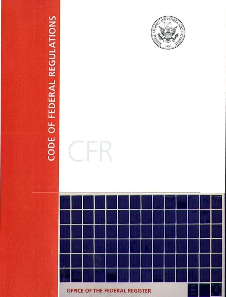 T 50 Pts 18-199; Code Of Federal Regulation-microfiche 2017