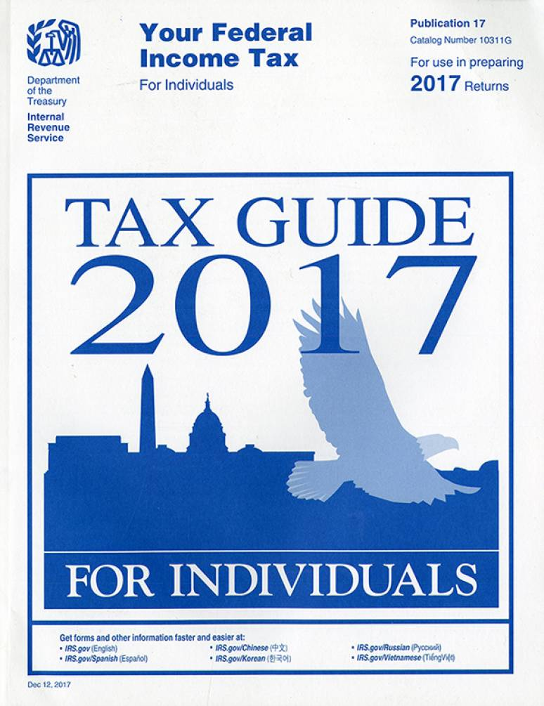2017 Irs Publication 17 Your Federal Income Tax For Individuals