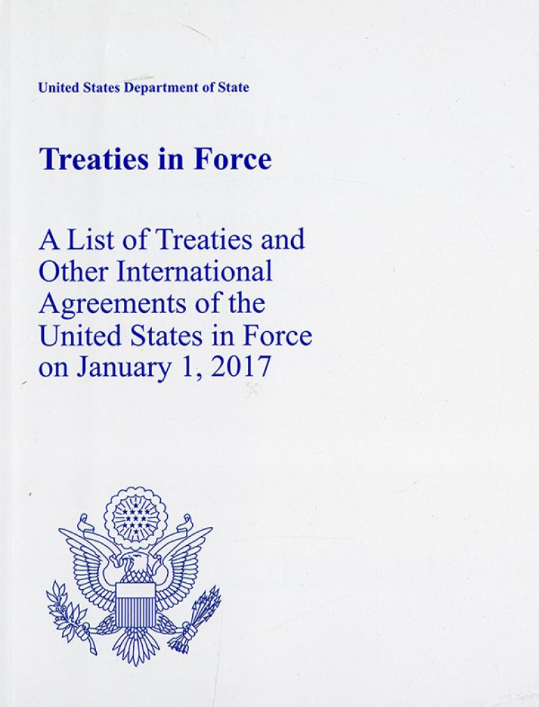 Treaties in Force Jan 1, 2017