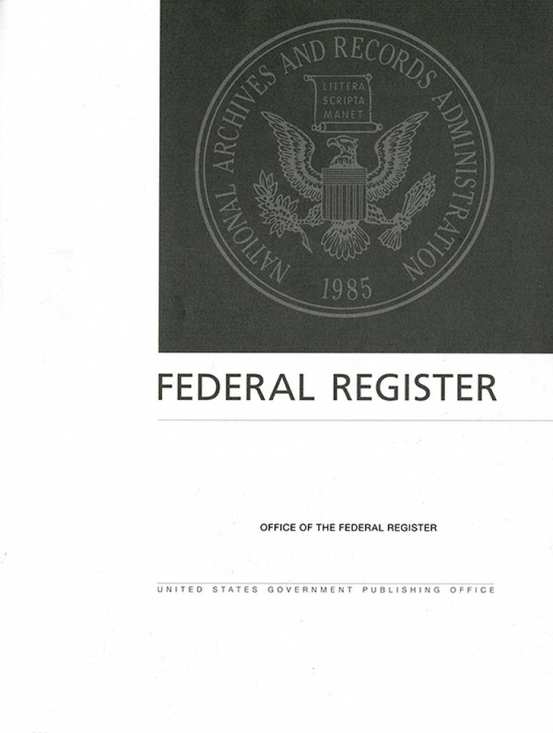 Cfr Lsa May 2018; Federal Register (microfiche)