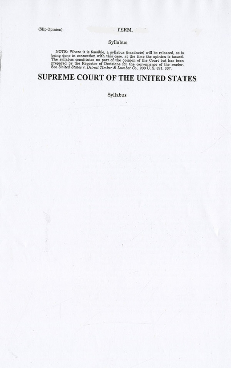 18-725; 2019 Supreme Court The Individual Slip Opinions Term Of Court