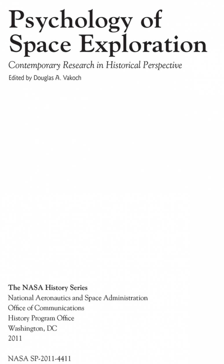 Psychology of Space Exploration: Contemporary Research in Historical Perspective (ePub eBook)