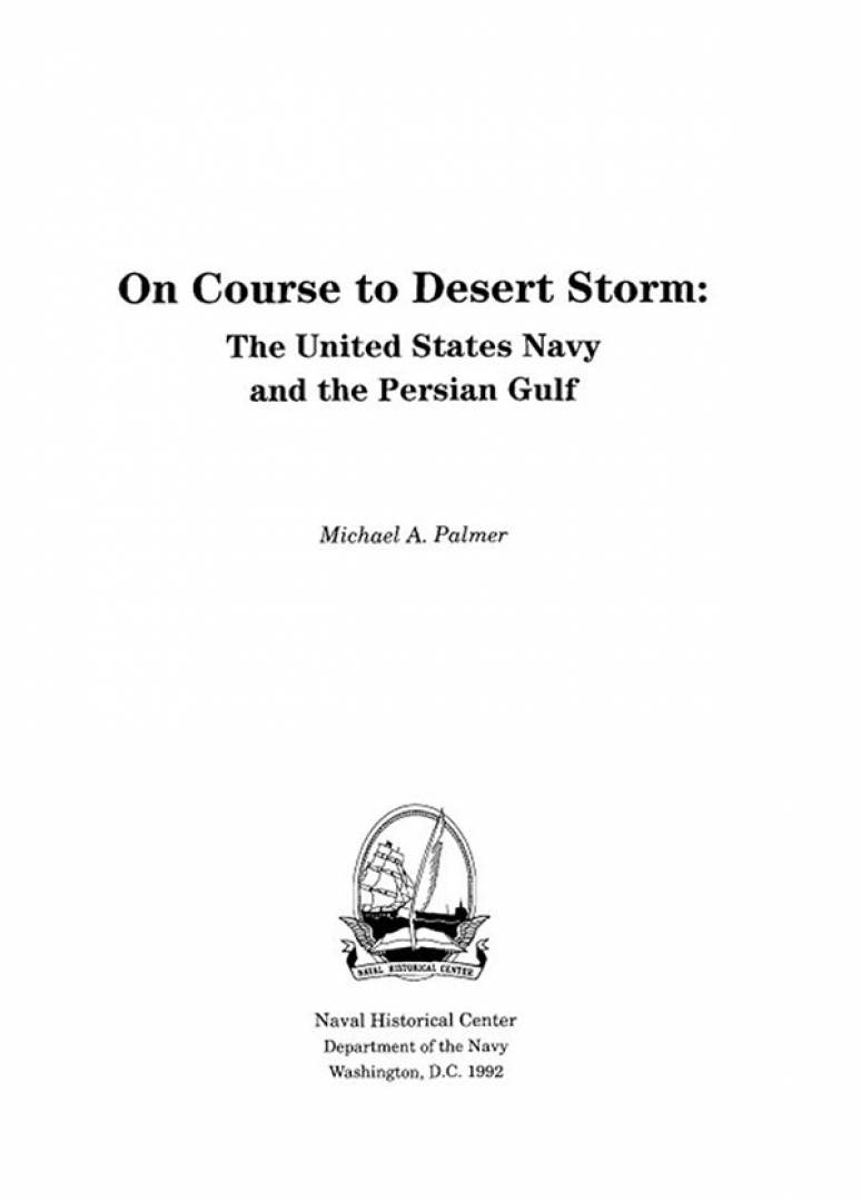 On Course to Desert Storm: The United States Navy and the Persian Gulf (ePub eBook)