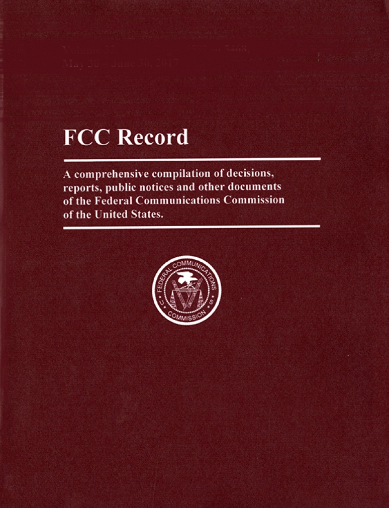 Volume 35 Issue 20; Federal Communications Commission Record