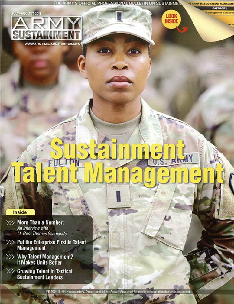 V.50 #4 July- Aug. 2018; Army Sustainment (formerly Army Logistician)