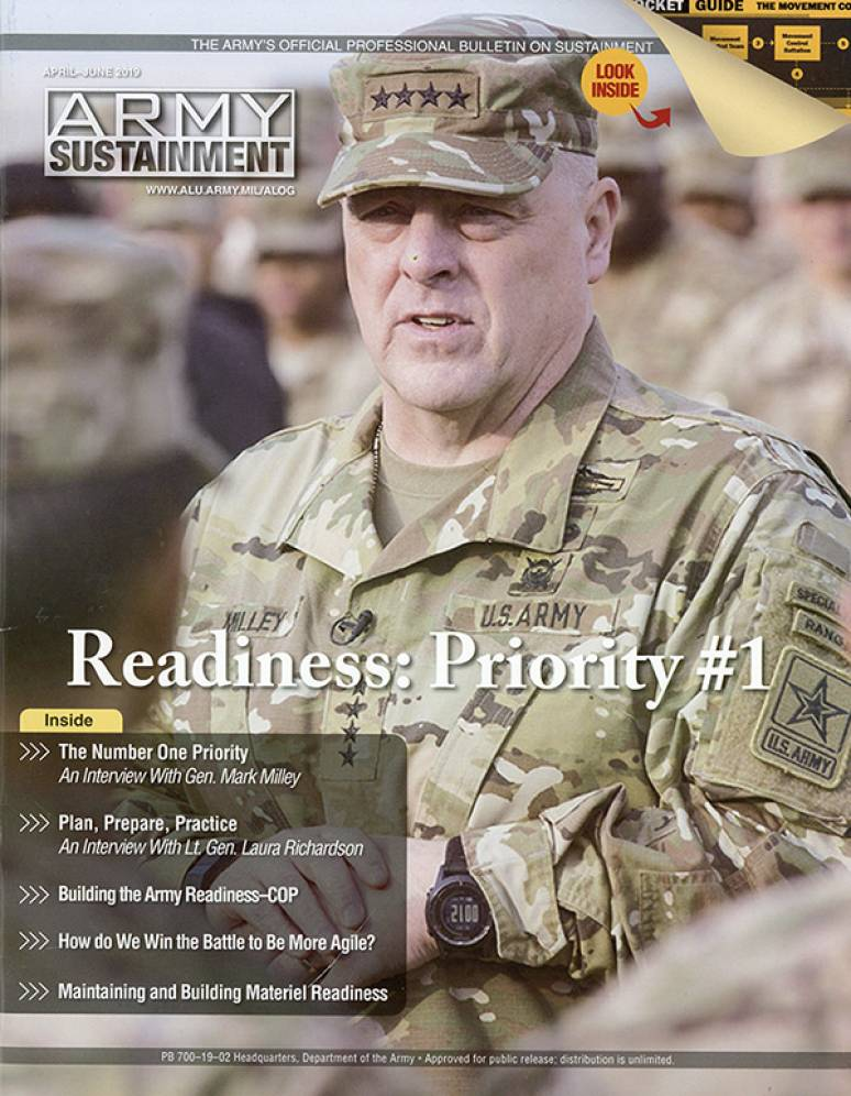 V.51 #2 April- June 2019; Army Sustainment (formerly Army Logistician)