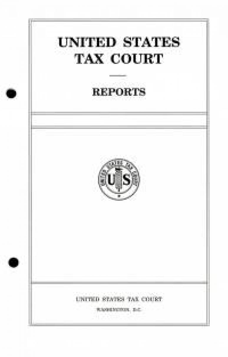 V.148 #4 & #5; United States Tax Court Reports