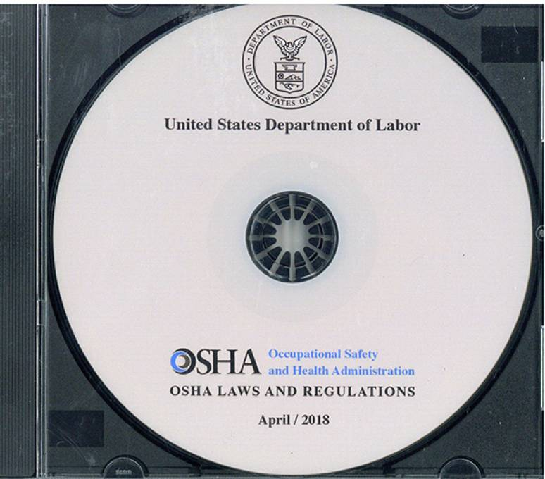 April 2018; Osha Regulations,documents,and Technical Information On Cd-rom