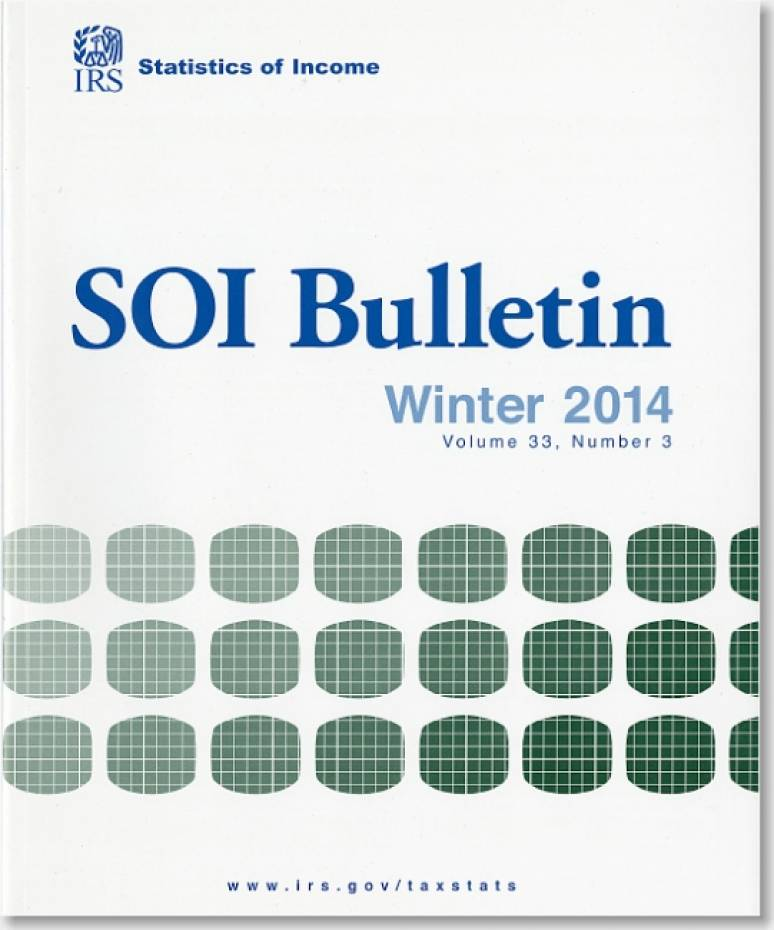 SOI Bulletin, Statistics of Income, V. 33, No. 3, Winter 2014