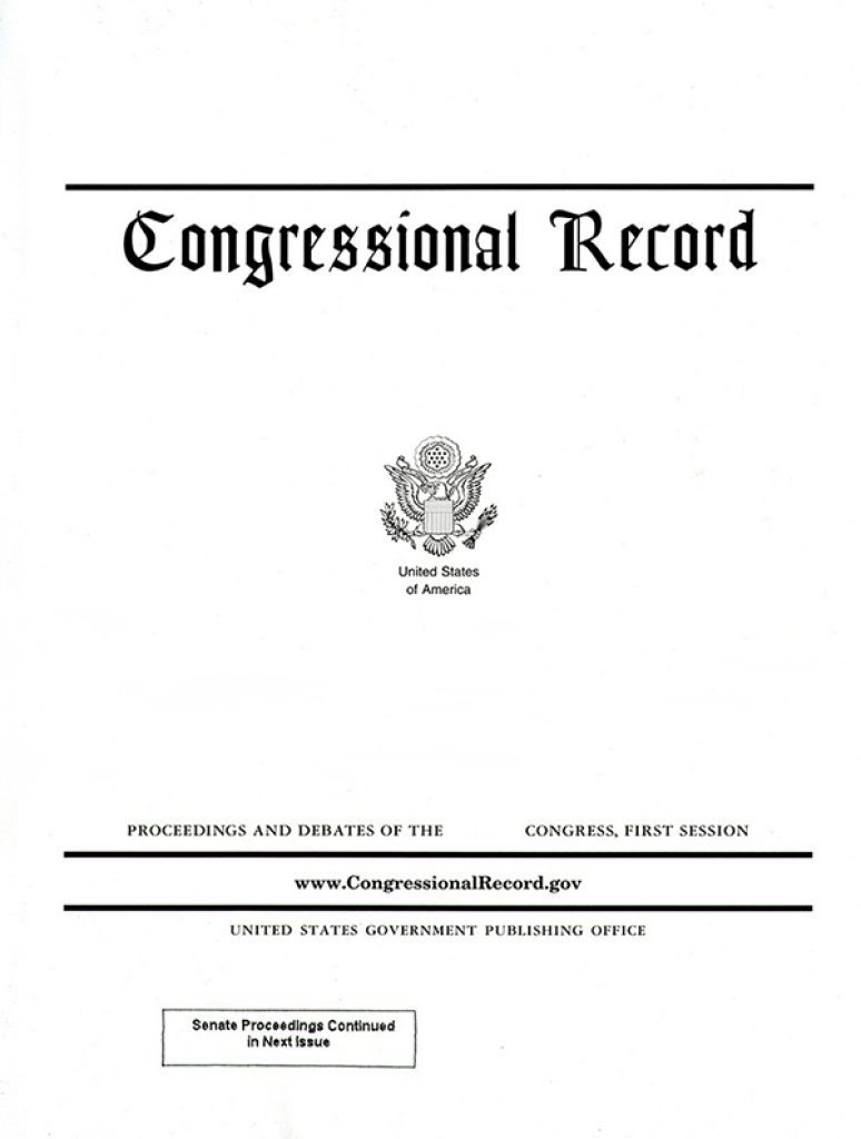 Vol. 165 #83   05-17-2019; Congressional Record