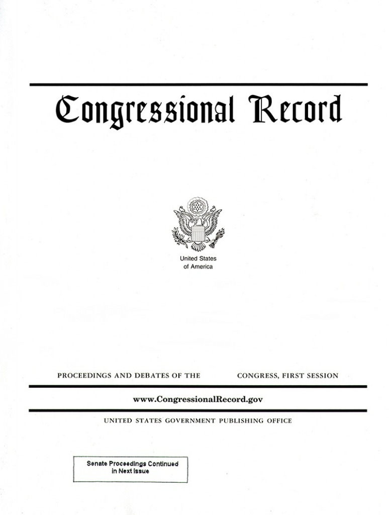 Vol 166 #16 01-25-20; Congressional Record