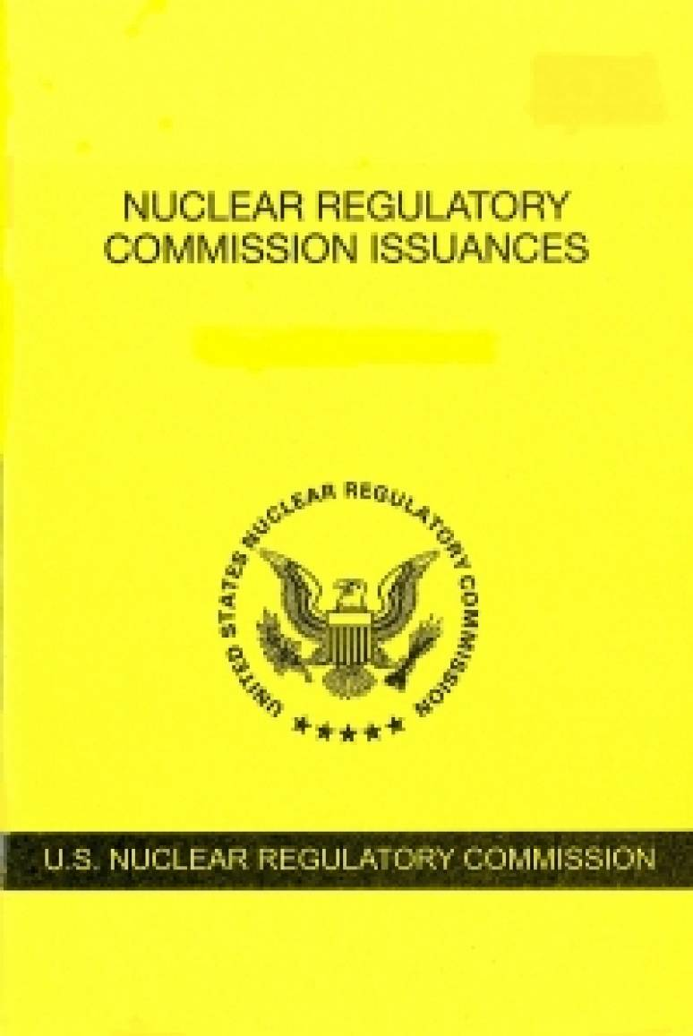 V.87 #4 April 2018; Nuclear Regulatory Commission Issuances  Nureg-0750