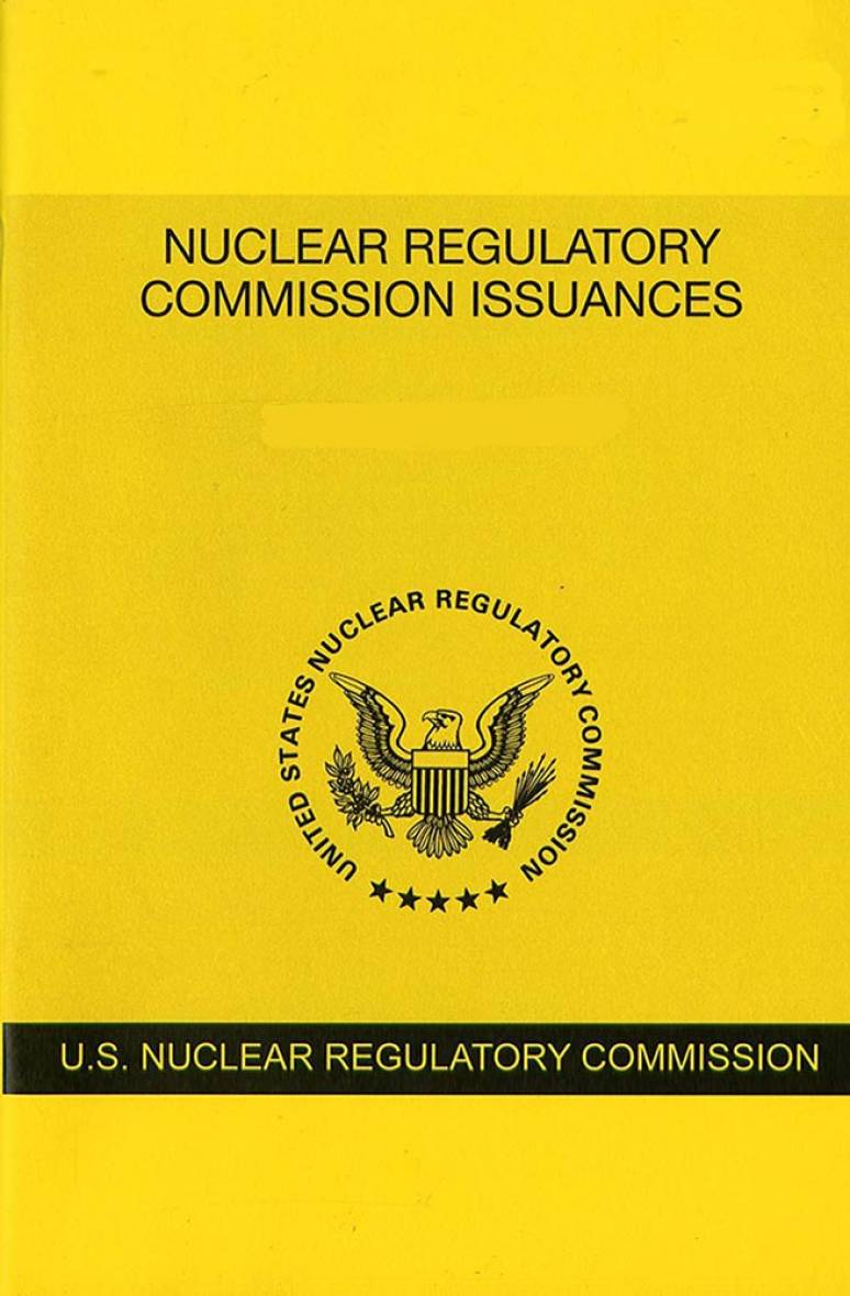 V.88 #1 July 2108; Nuclear Regulatory Commission Issuances  Nureg-0750