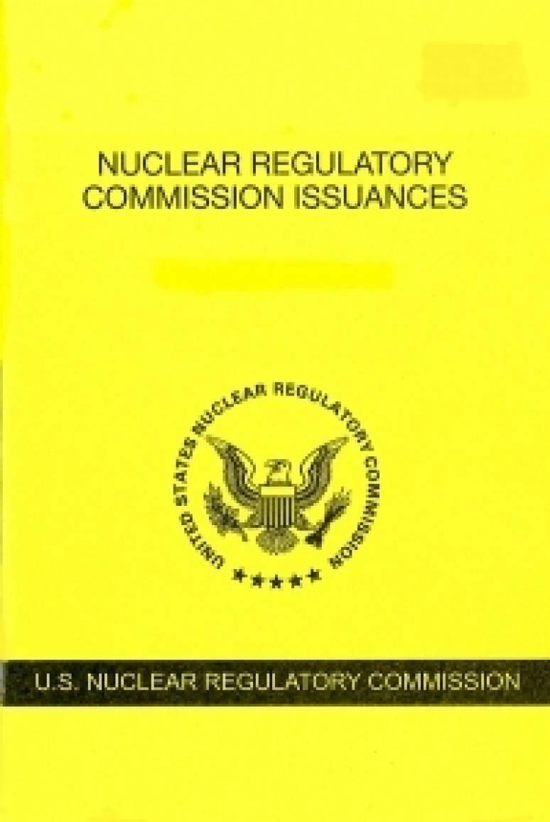 V.87 #3 March 2018; Nuclear Regulatory Commission Issuances  Nureg-0750
