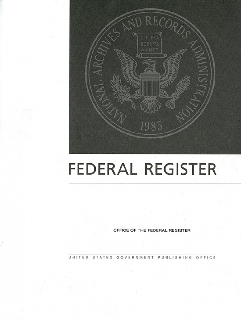 Vol 85 #208 10-27-20; Federal Register Complete