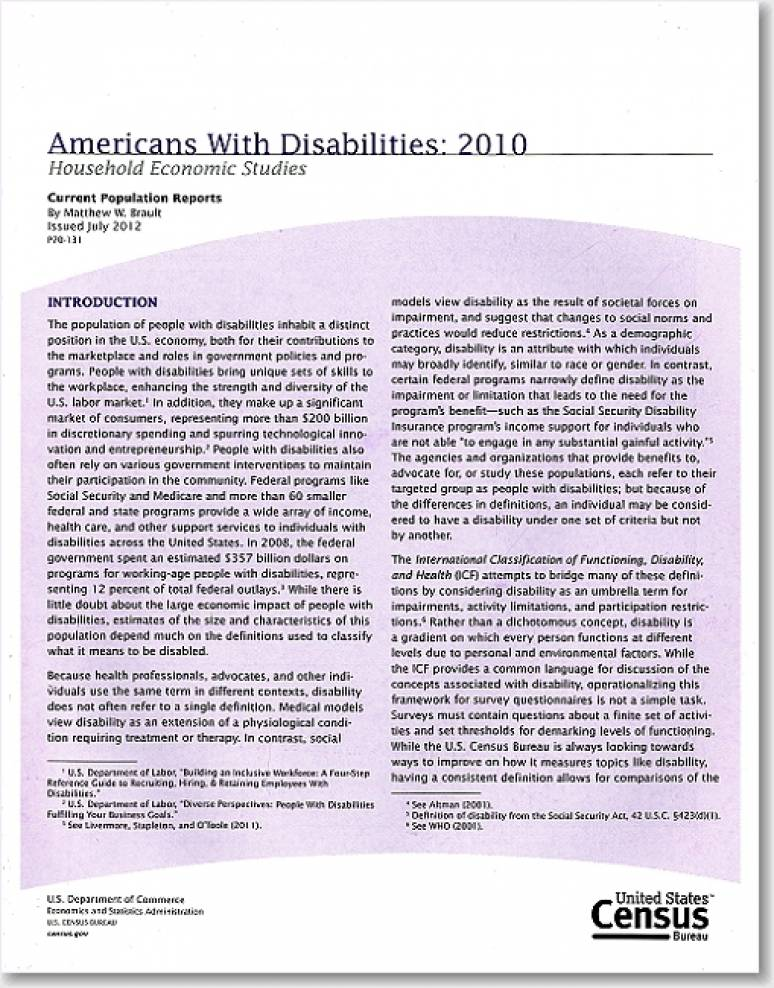 Americans With Disabilities: 2010