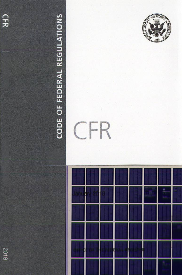 T 6; Code Of Federal Regulations Microfiche 2018