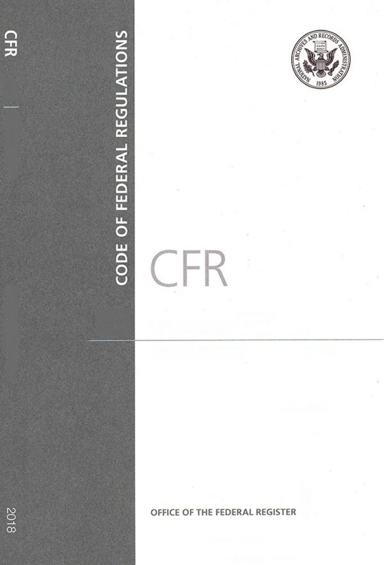 Cfr T40(63.6580-63.8830)cover ; Code Of Federal Regulations(paper)2018