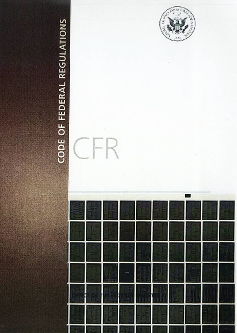 Code Of Federal Regulations Microfiche 2019