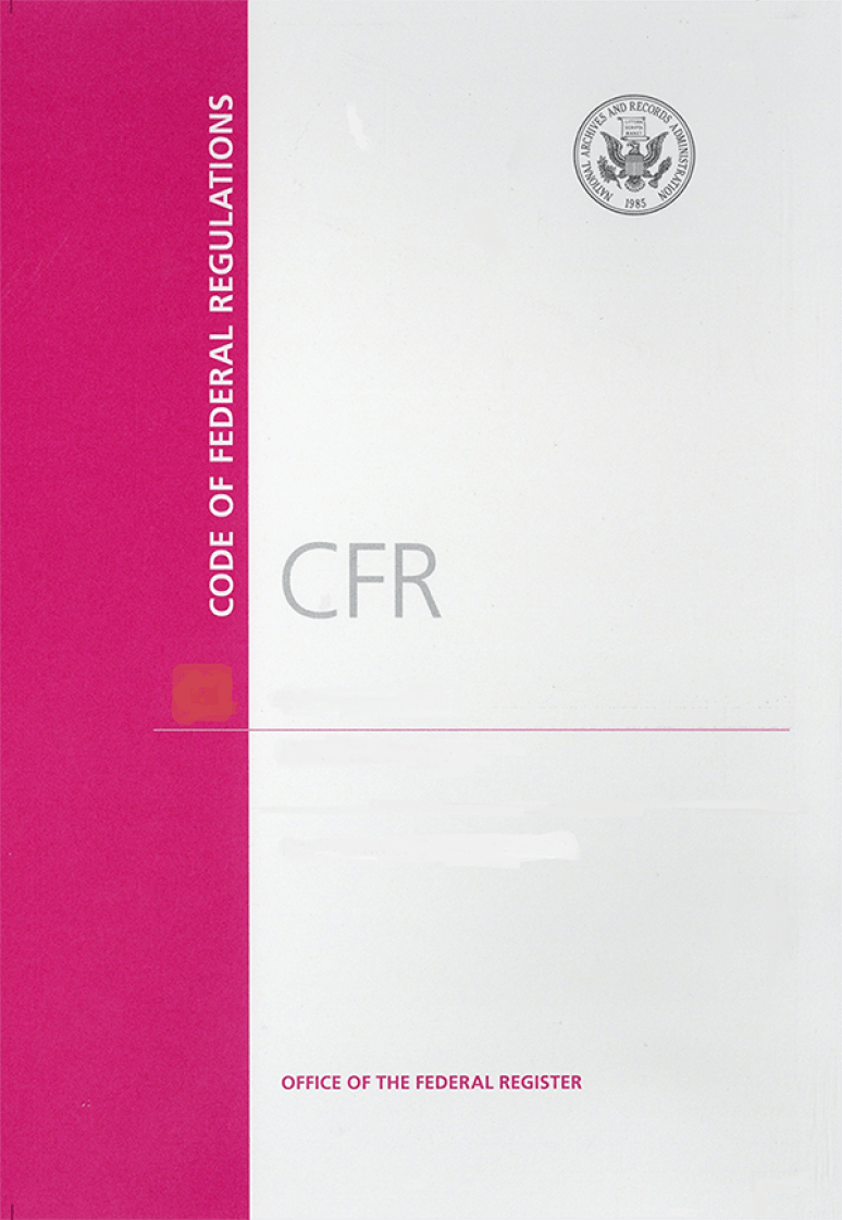 Cfr Title 40 Pt 87-95(cover)  ; Code Of Federal Regulations(paper)2020