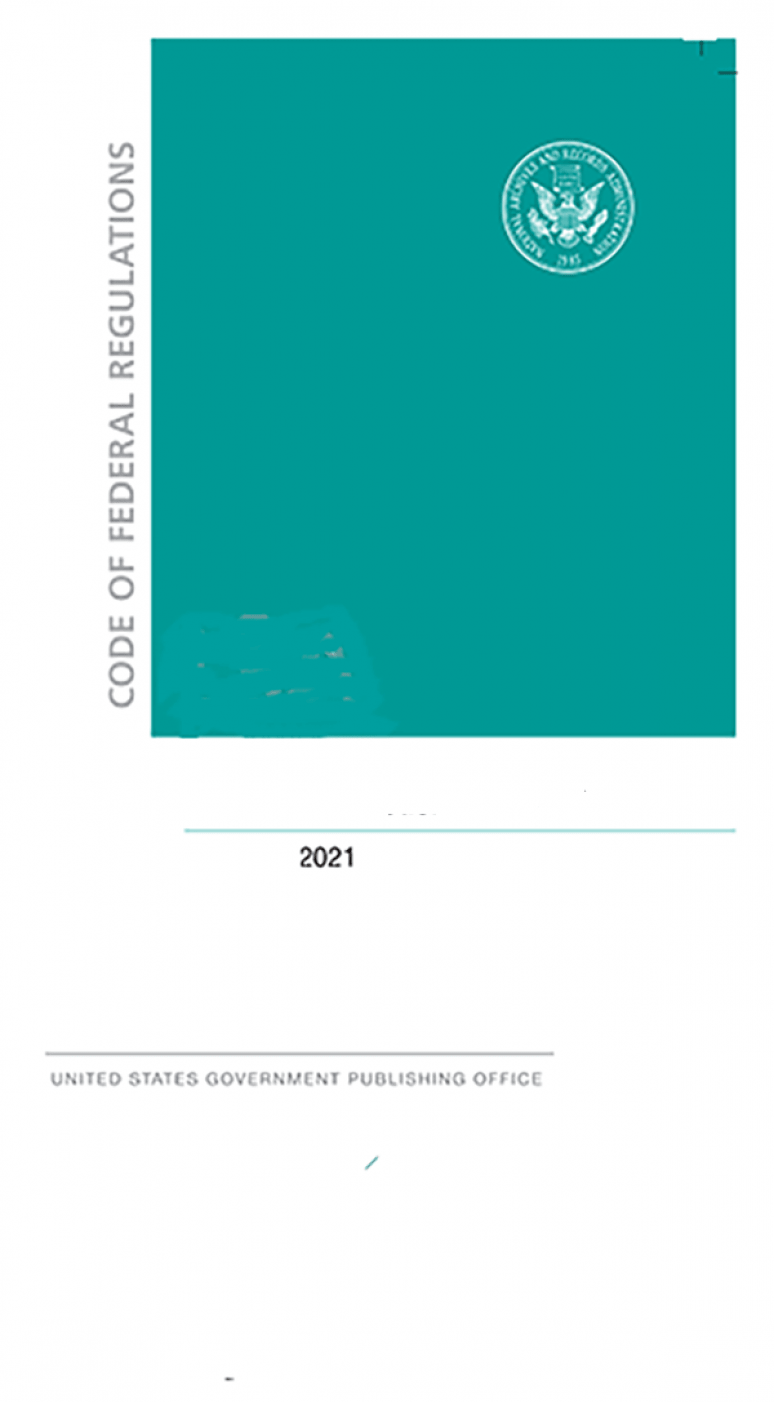 Cfr Title 1(cover Only)       ; Code Of Federal Regulations(2021)