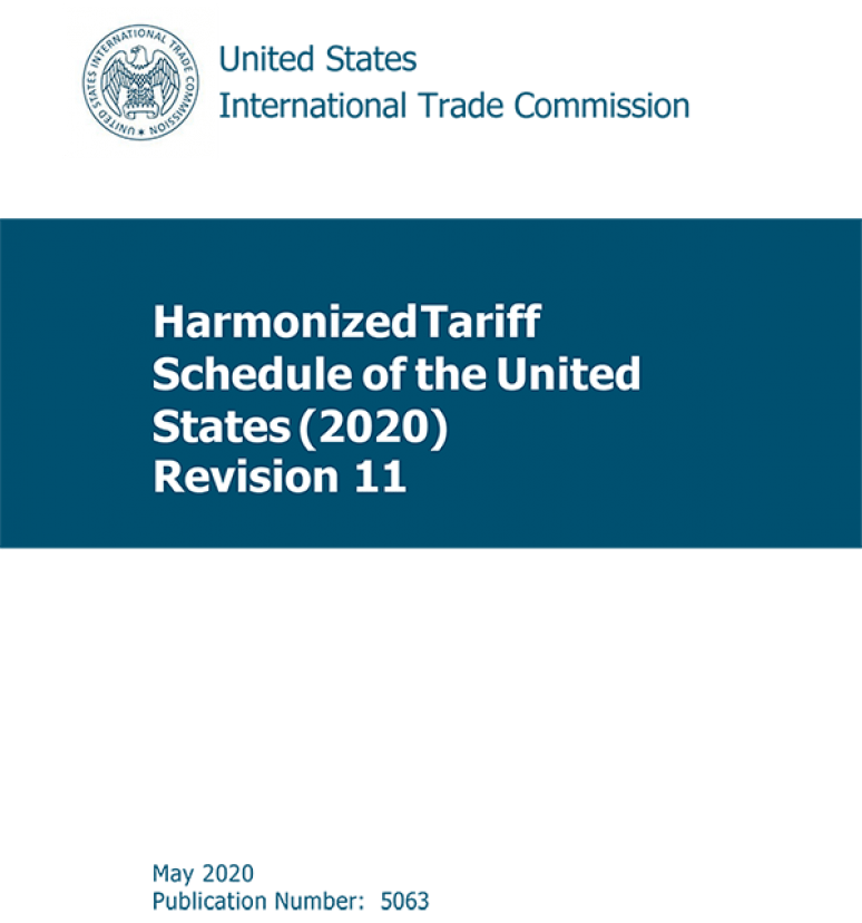 Harmonized Tariff Schedules Of The Annotated For Statistical Reporting purposed 32nd Edition 2020