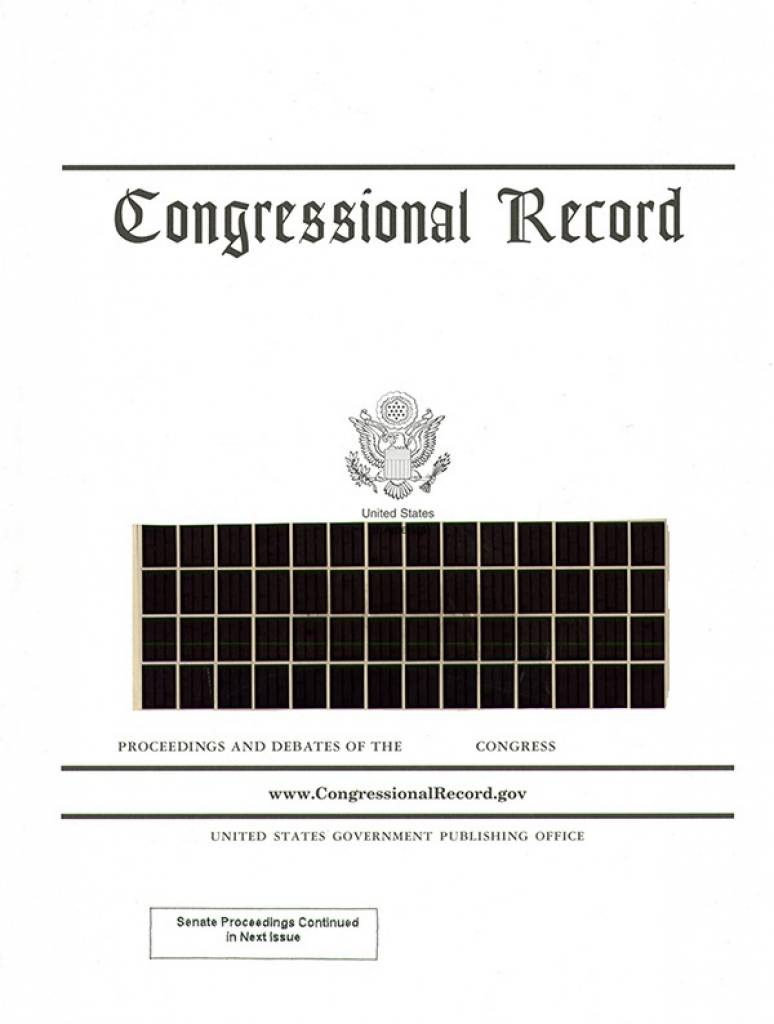 Index Vol 163 #1 To 11; Congressional Record (microfiche)    Jan. 3 To Jan 20,2017