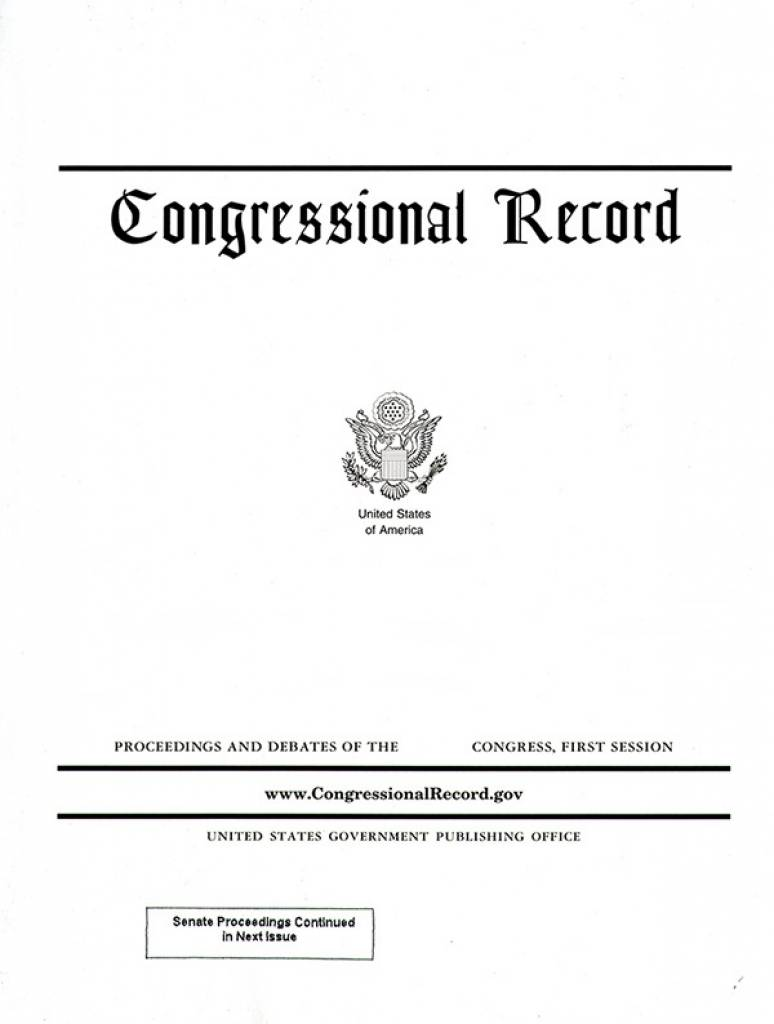 Congressional Record, V, 155, Pt. 11, June 8 to June 17, 2009