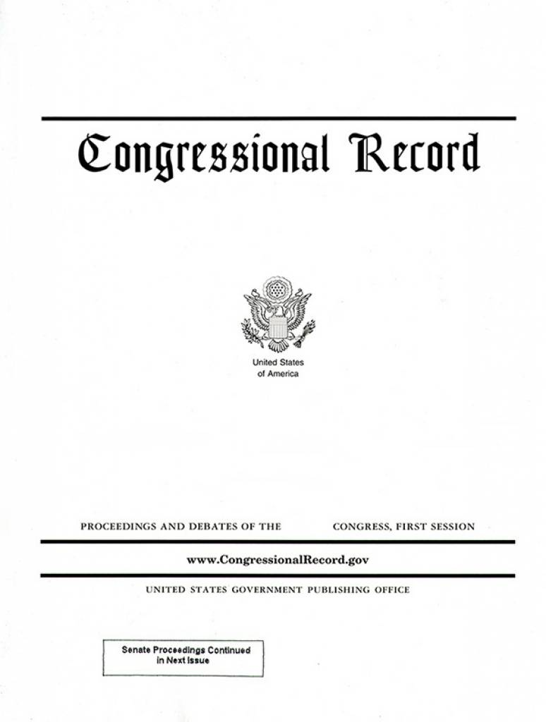 Vol 165 #166 10-21-19; Congressional Record