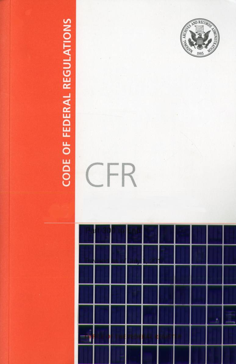T 26 Pts 1 Vol 6; Code Of Federal Regulation-microfiche 2017