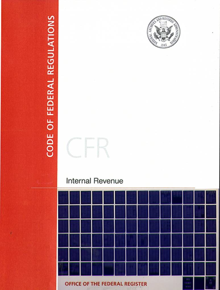 T 26 Pts 1 Vol 9 Of 15; Code Of Federal Regulation-microfiche 2017
