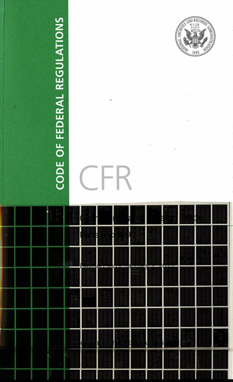 Code of Federal Regulations, List of CFR Sections Affected, May 2015 (Microfiche)