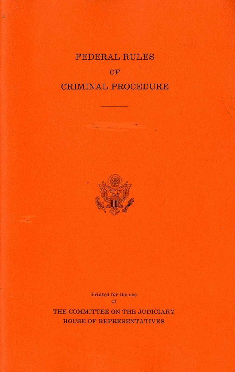Federal Rules of Criminal Procedure, December 1, 2015