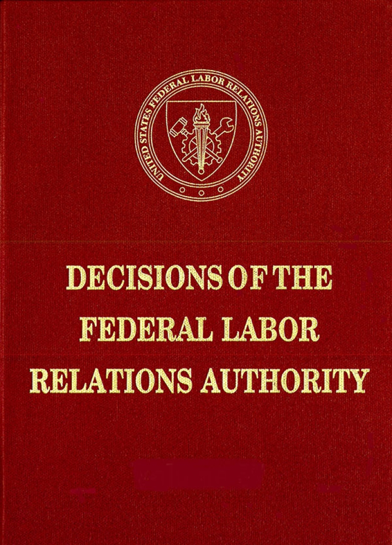 Decisions of the Federal Labor Relations Authority Volume 70