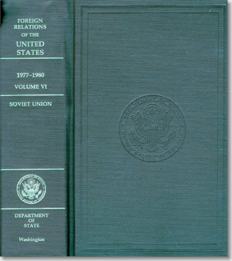 Foreign Relations-of the United States, 1977-1980, Volume VI, Soviet Union