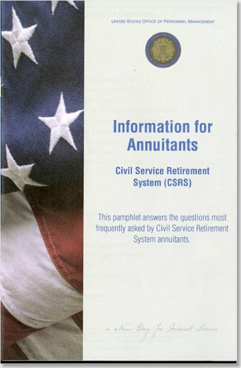Information for Annuitants: Civil Service Retirement System (CSRS)