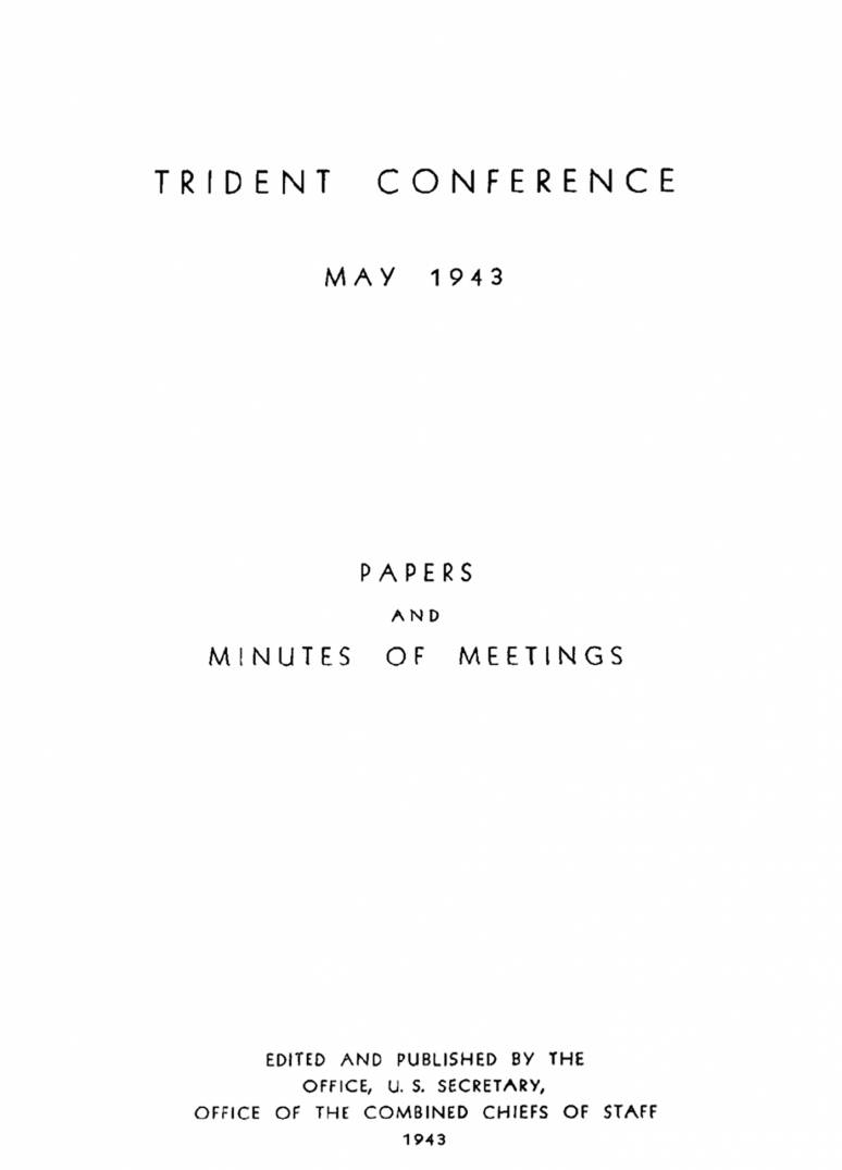 The Trident Conference: May 1943