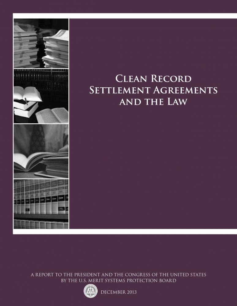 Clean Record Settlement Agreements and the Law