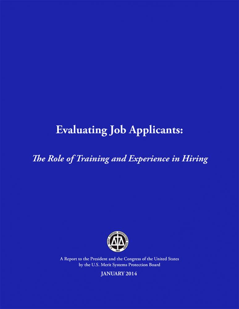 Evaluating Job Applicants: The Role of Training and Experience of Hiring