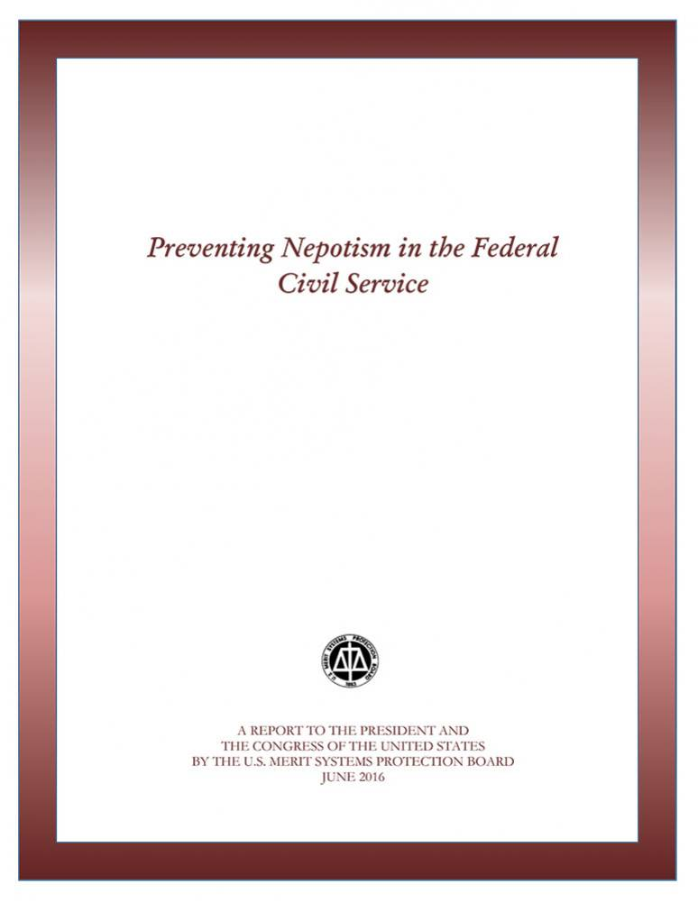 Preventing Nepotism in the Federal Civil Service