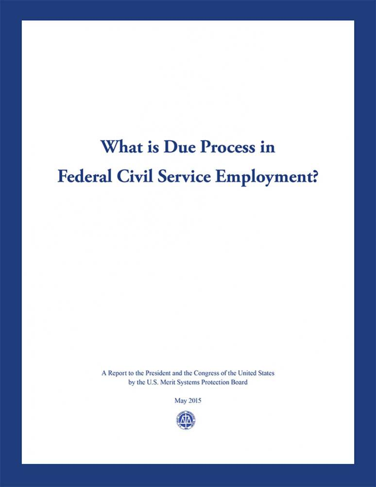 What is Due Process in the Federal Civil Service Employment?