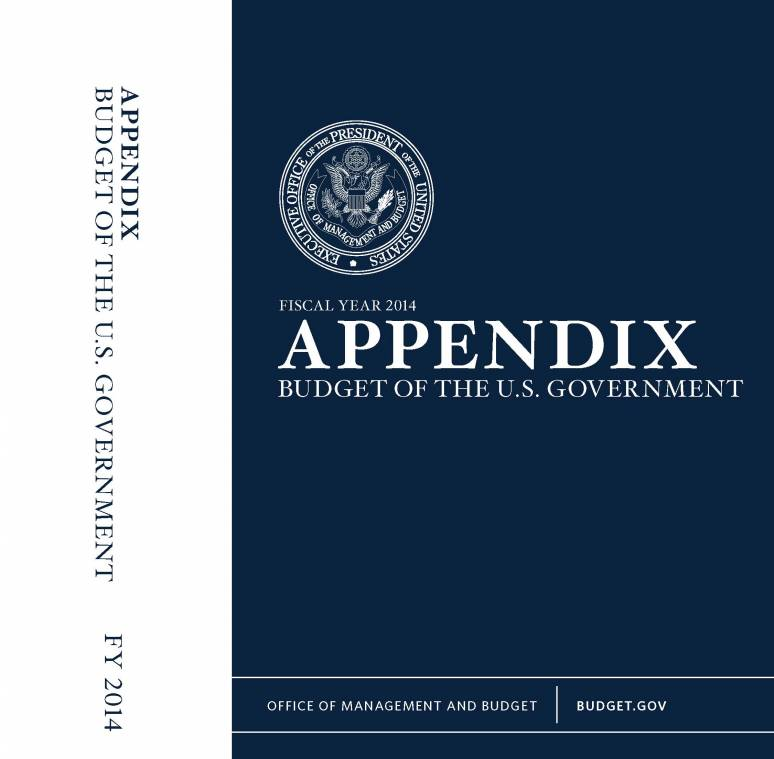 Fiscal Year 2014 Appendix, Budget of the U.S. Government